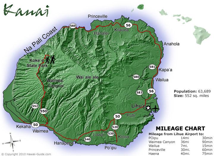 photo relating to Printable Map of Kauai named Kauai Maps