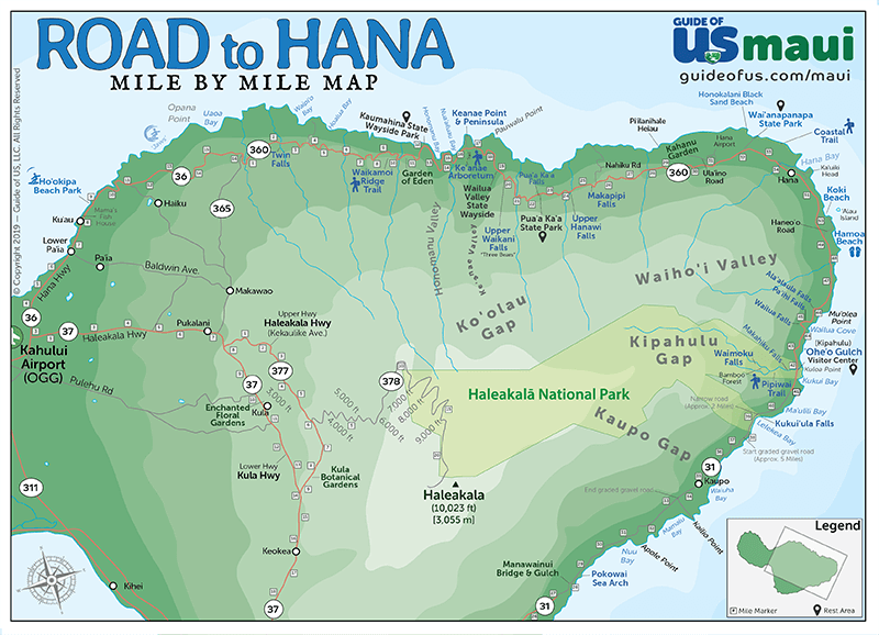 Road to Hana Highway Map