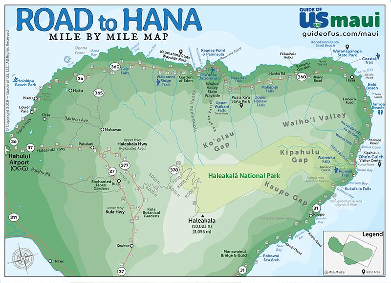 photograph regarding Printable Map of Maui called Maui Hawaii Maps - Push Highway Map