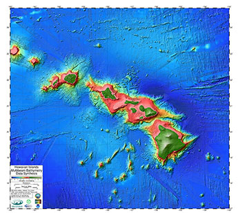 Hawaii Bathymetry Map