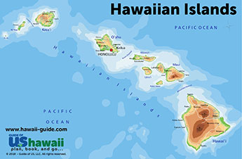 picture about Printable Map of Oahu titled Maps of Hawaii: Hawaiian Islands Map