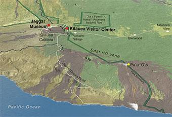 Hawaii Volcanoes Park Overview Map
