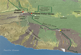 Hawaii Volcanoes Park Overview Map