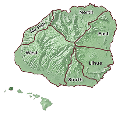 Kauai Regions Guide Image