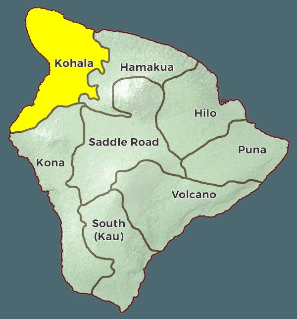 Kohala Hawaii Map.Kohala Region