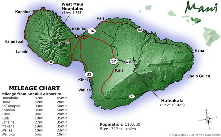Hawaii Map Maui.Maps Of Maui Hawaii