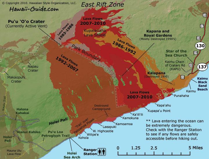 Kilauea Volcano Map  Mtxrex