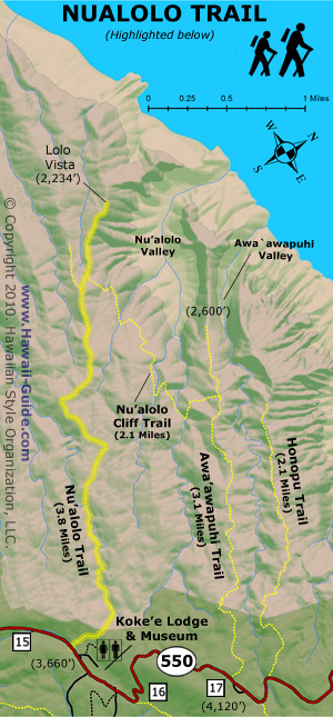 Nualolo Trail Map