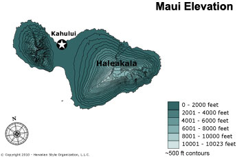 Maui Elevation Map