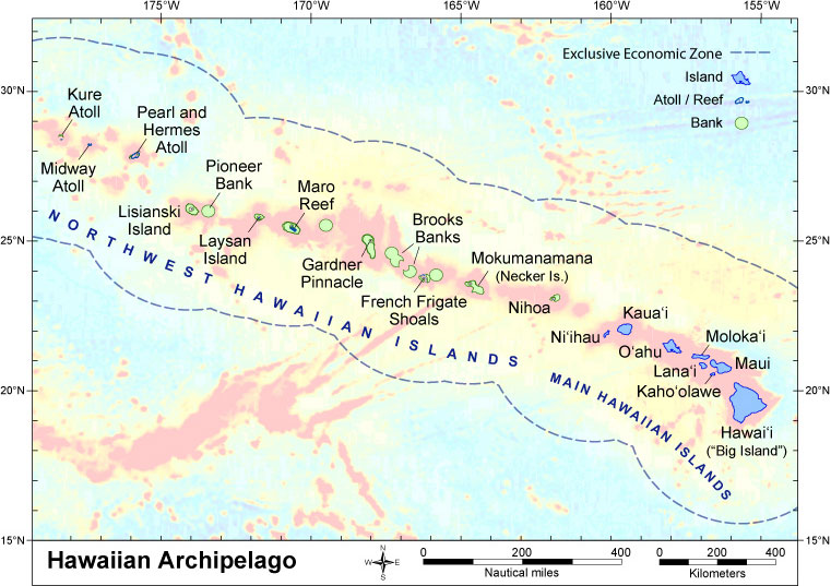 Hawaii geology and geography this link shows another view of the hawaii archipelago sciox Choice Image