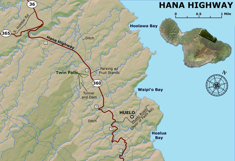Road to hana map road to hana map part 1 thecheapjerseys Image collections
