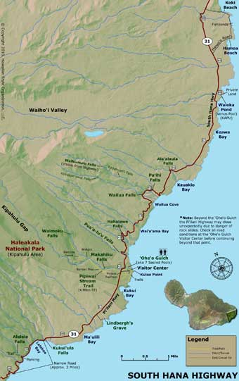 Road to Hana Map - Part 4
