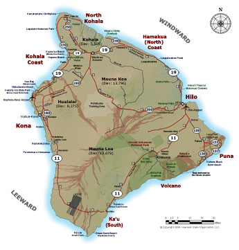 Big Island Map Detailed