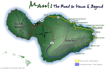 Maps of maui hawaii road to hana highway map altavistaventures Gallery