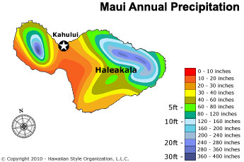 Maui Annual Precipitation