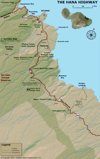 Road to Hana Map - Part 2