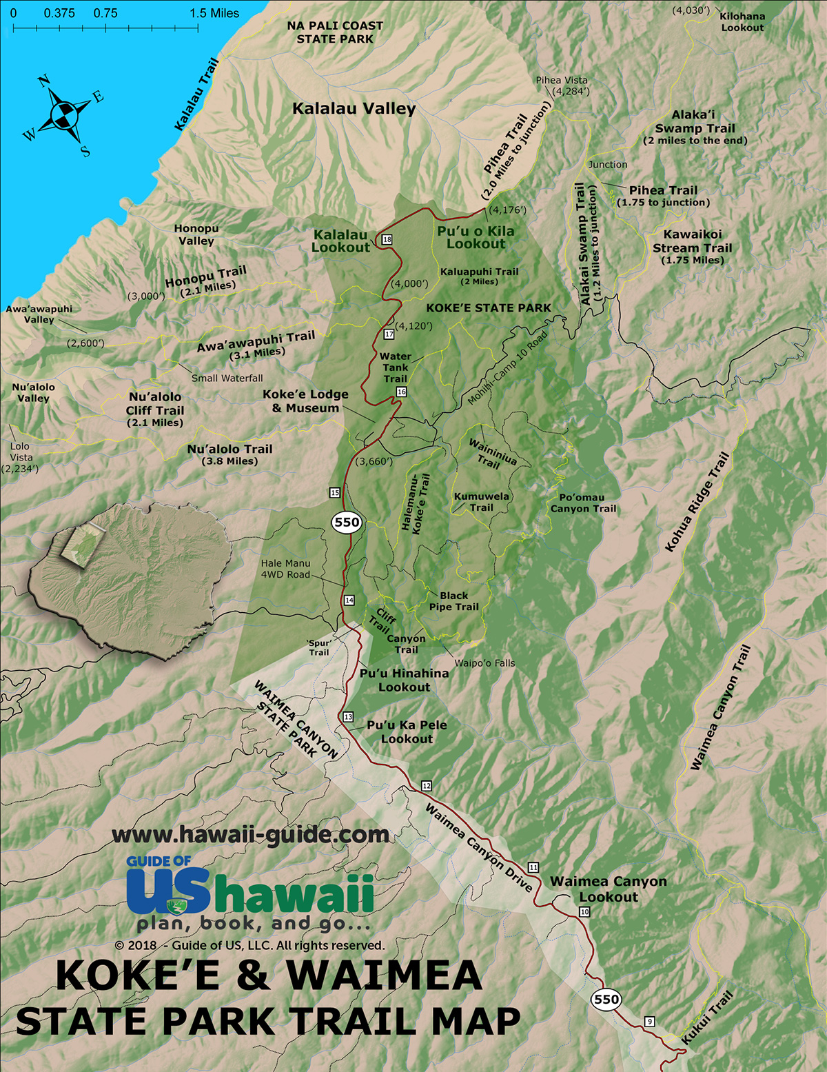 Kokee & Waimea State Park Hiking Trails | Kauai Hawaii