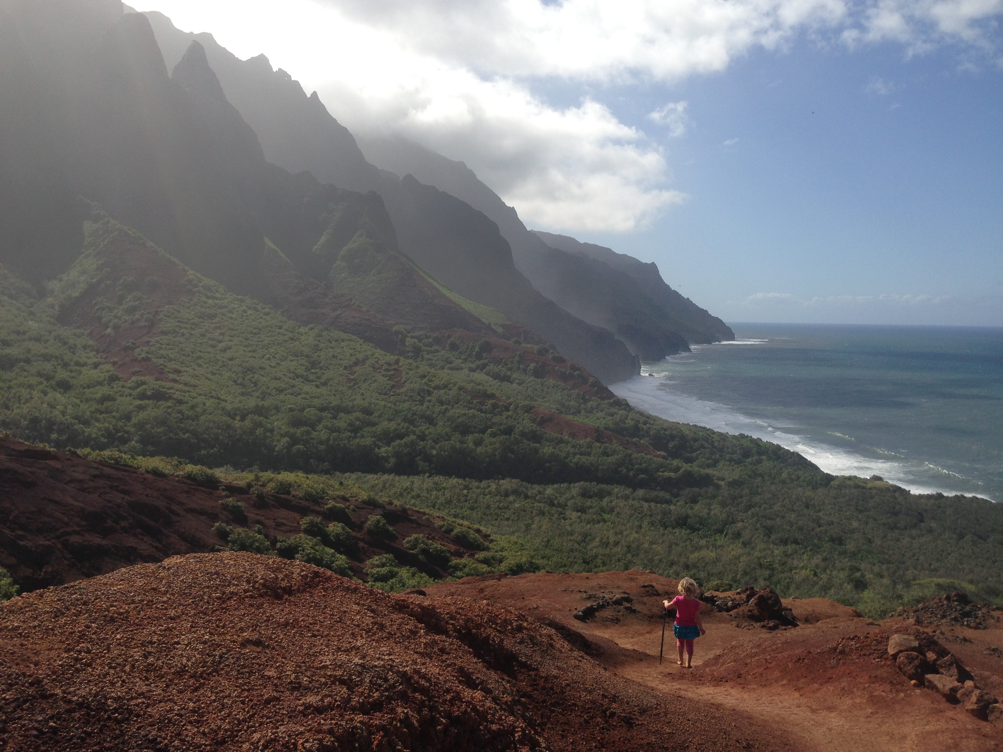 Red Hill Looking into Kalalau