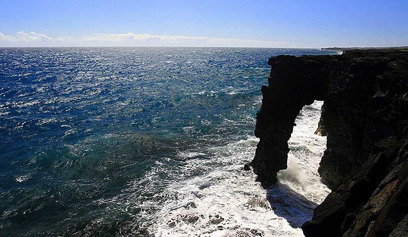 The ocean cliffs on the Big Island