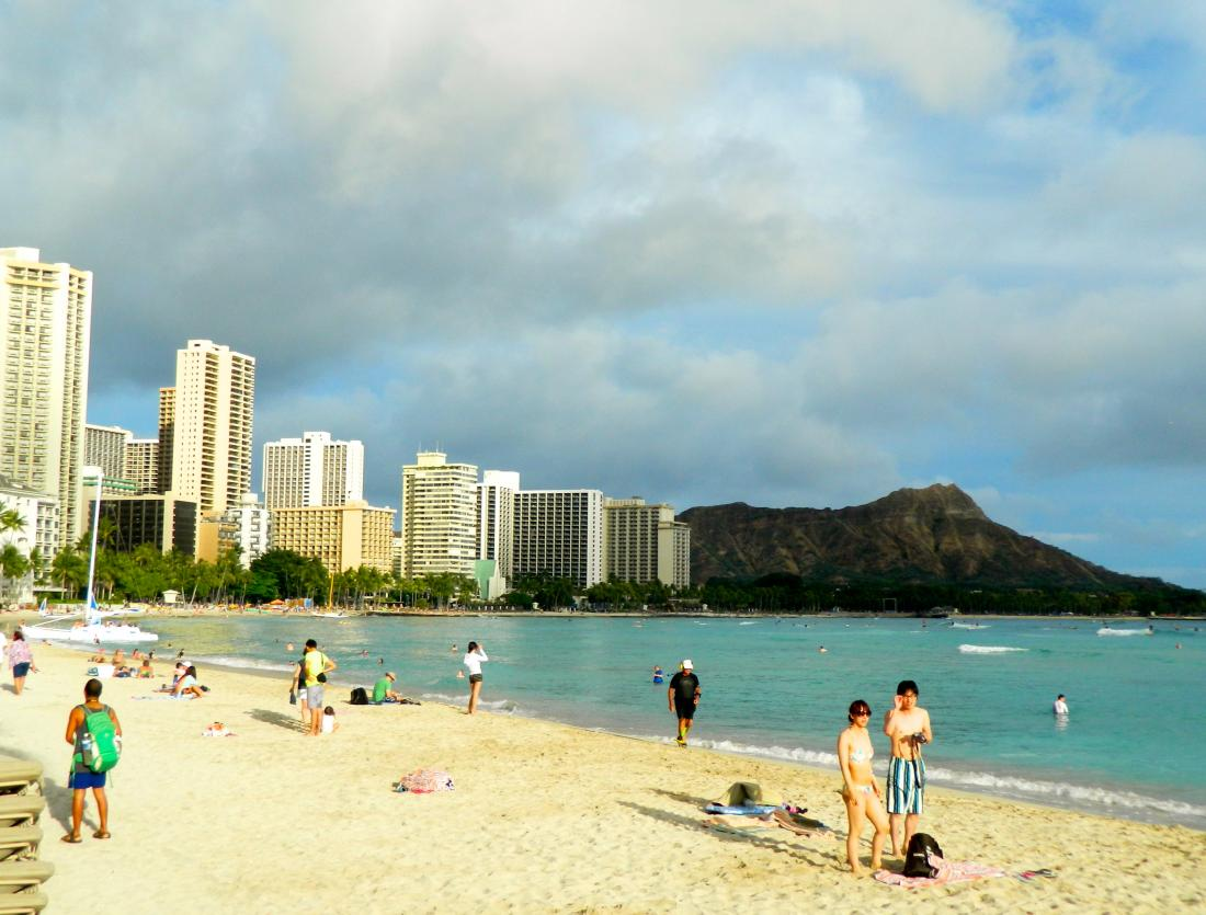 Visitors from around the world flock to the world famous Waikiki Beach area.