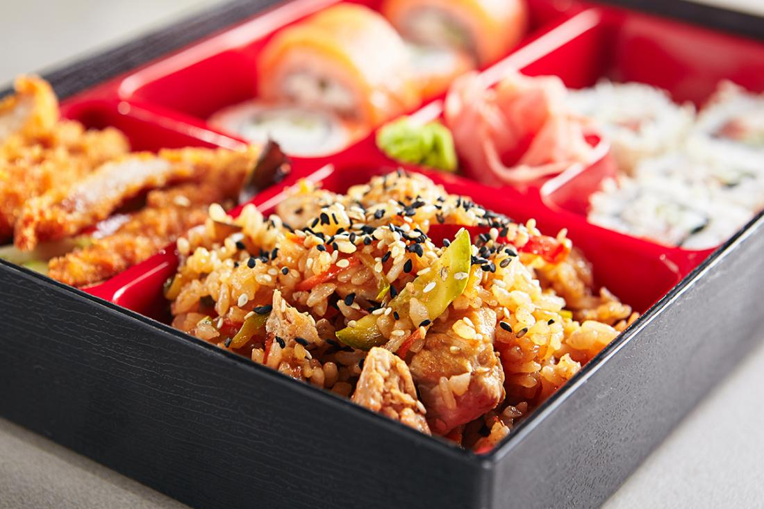 Hawaii's version of the Japanese takeout lunch typically features rice, pickled or cooked vegetables, and just about any combination of local food entrees you could want.