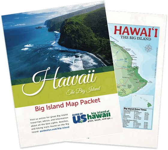Updated Big Island Travel Map Packet