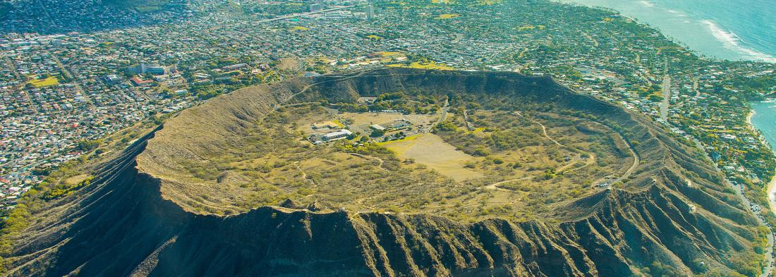 Diamond Head Crater on Oahu