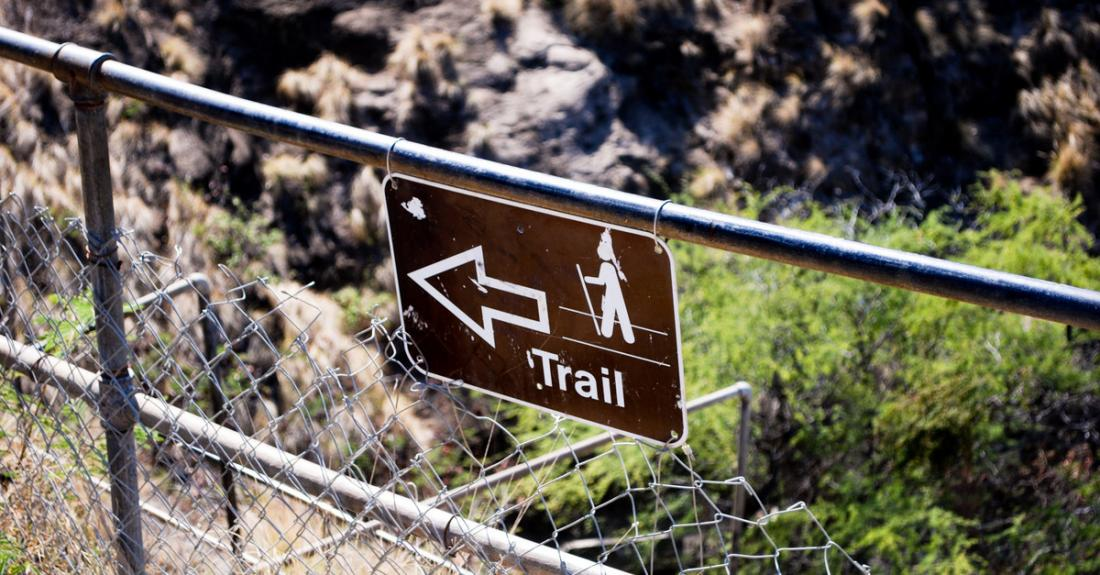Follow the trail to the summit of Diamond Head Crater