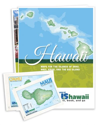 Updated Hawaii Travel Map Packet - 4 Main Island Maps