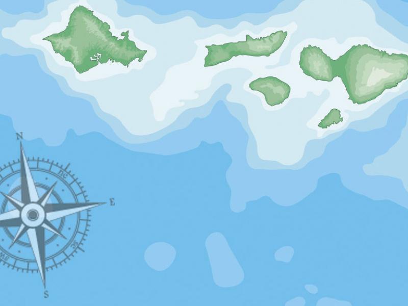 Maps of Hawaii: Hawaiian Islands Map