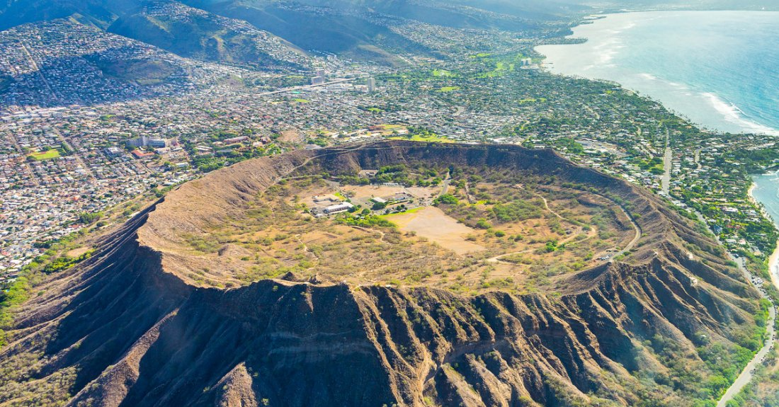 Diamond Head Crater is just miles from Downtown Honolulu