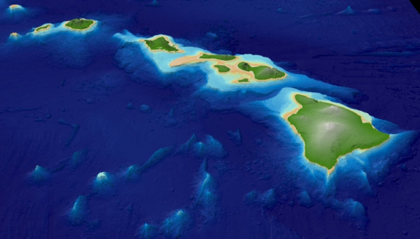 Hawaii 3D Map Images Image