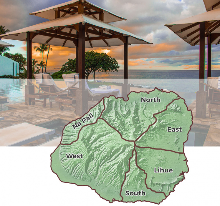 Kauai Accommodations by Region