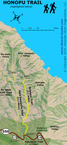Honopu Ridge Trail Image
