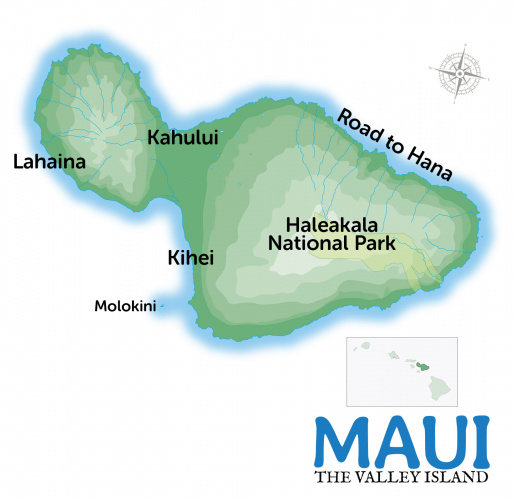 Maui Travel Guide Map