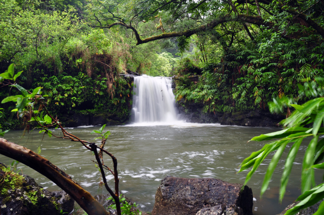 Road to Hana Waterfalls Image