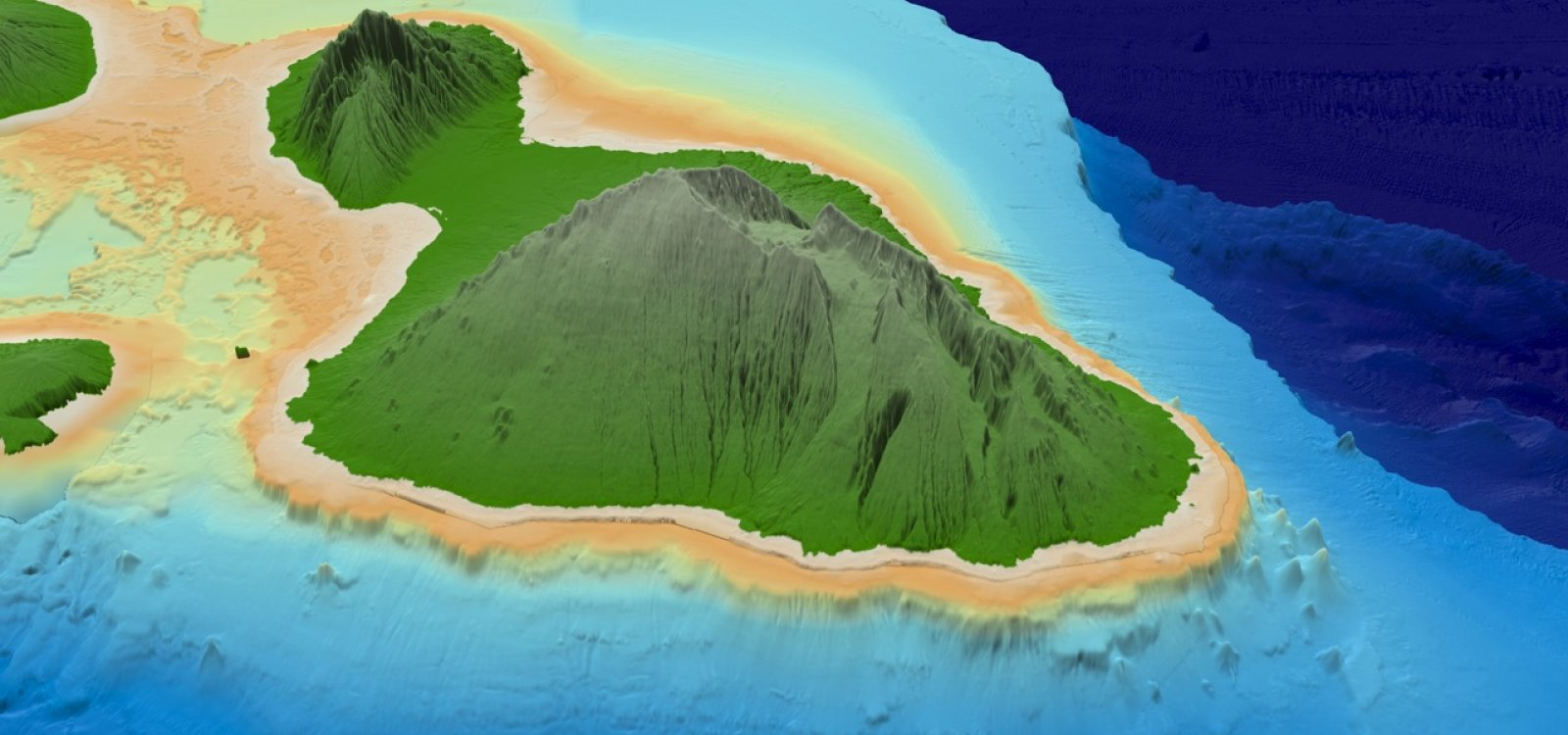 Topographic Map Of Maui.Hawaii 3d Map Images