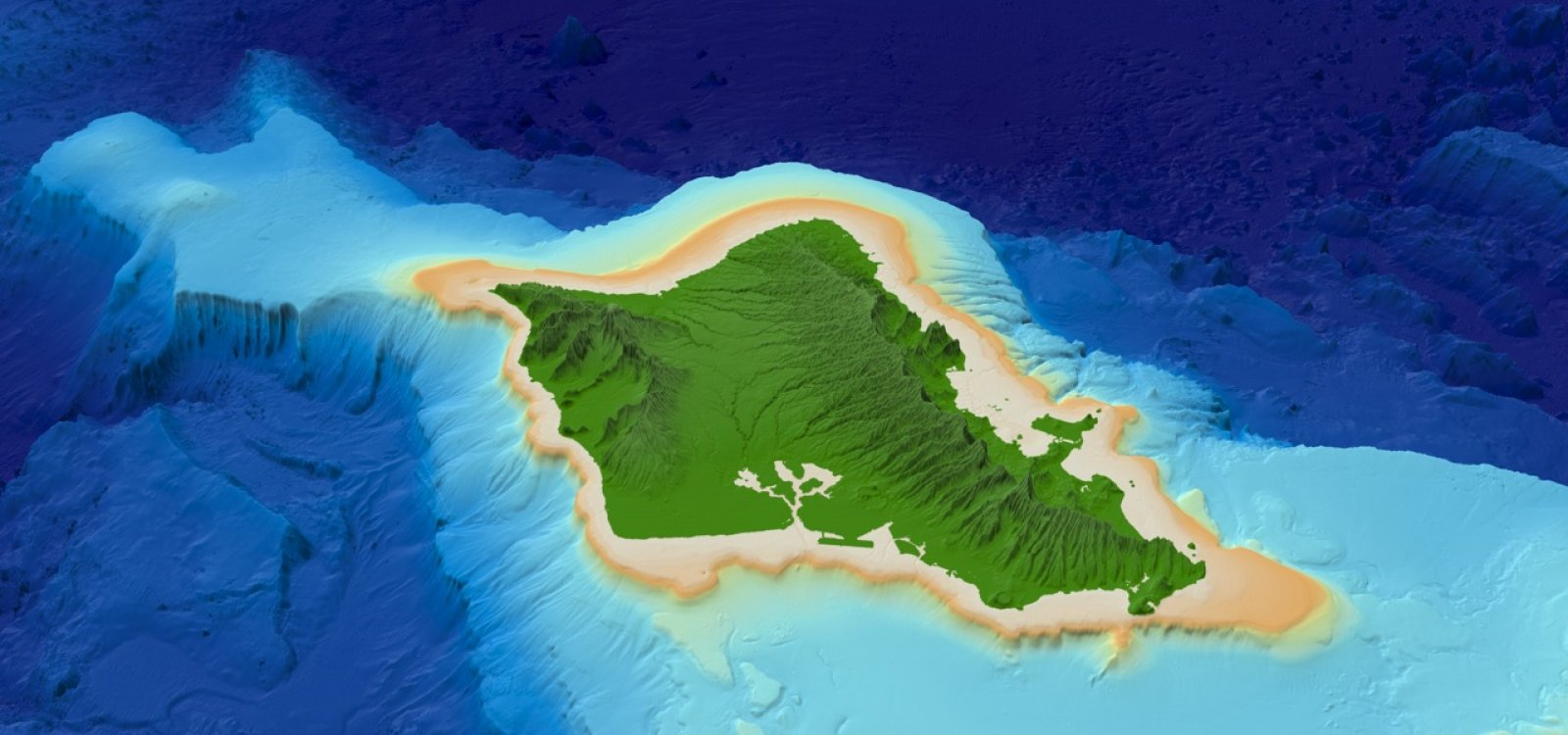Topographic Map Oahu.Hawaii 3d Map Images