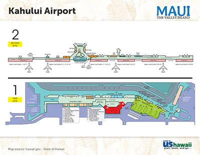 Kahului Airport On Maui Ogg Maui Hawaii