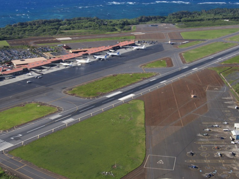 Kahului Airport On Maui Ogg Hawaii