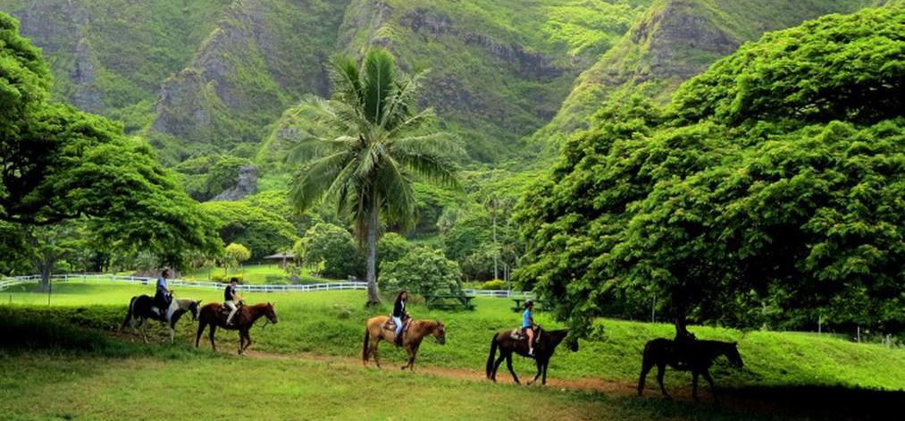 Horseback riding on Kauai is always kid-approved!