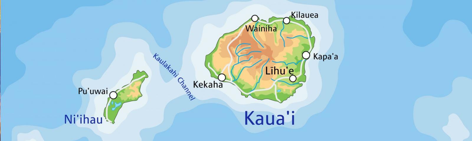 Kauai Maps on