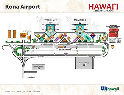 Kona Airport Map Kona International Airport (KOA)   Big Island Hawaii