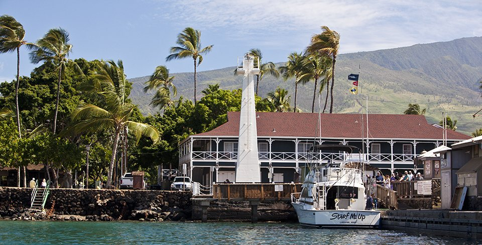 The Lahaina Lighthouse at Lahaina Harbor