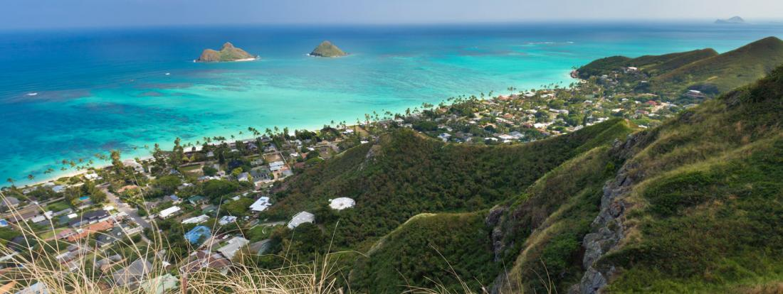 View from the Lanikai Pillbox Hike (Ka'iwa Ridge Trail)
