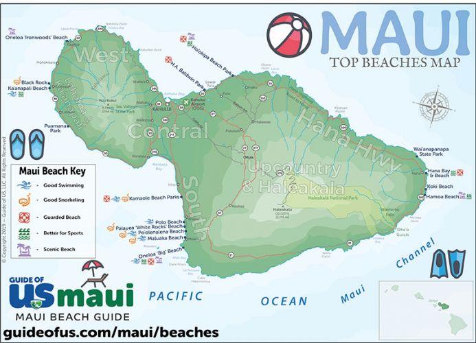 image regarding Printable Map of Maui titled Maui Hawaii Maps - Push Highway Map