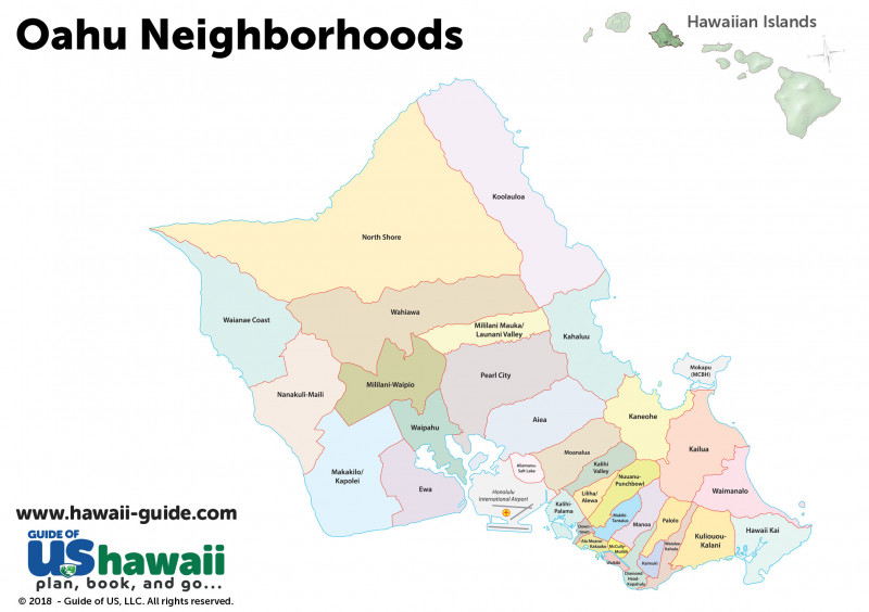 Oahu Neighborhoods Map