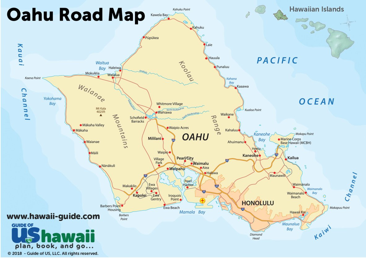 Oahu Road Map