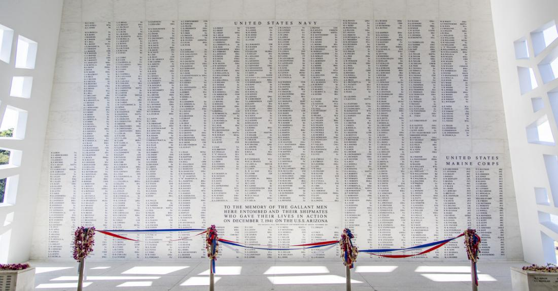 The USS Arizona is the final resting place of 1,177 brave men.