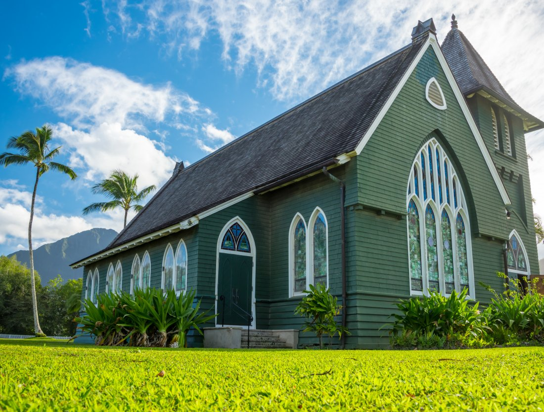 Wai`oli Hui`ia Church in Hanalei on Kauai